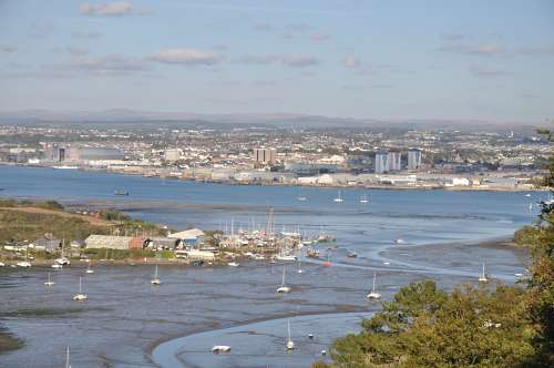 Devonport from the top of Mount Edgcumbe